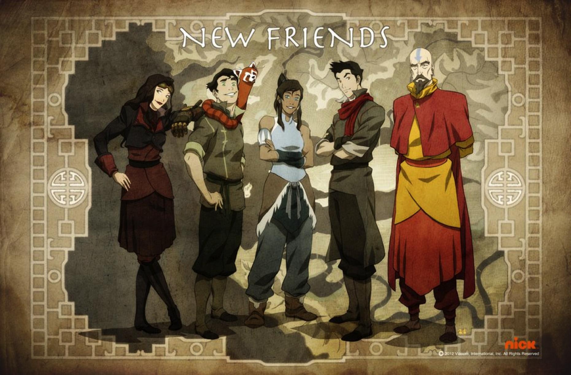 Les personnages de la légende de Korra (Livre 1)